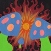 Mushrooms And Fire Art Print