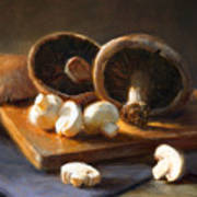 Mushrooms Print by Robert Papp