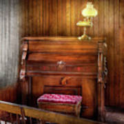 Music - Organist - A Vital Organ Art Print by Mike Savad