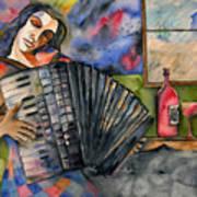 Music And Wine Art Print