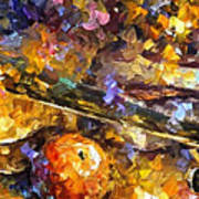 Music And Wine - Palette Knife Oil Painting On Canvas By Leonid Afremov Art Print