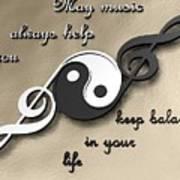 Music Balance Art Print