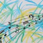 Music Burst Art Print