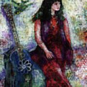 Music Feeds Her Spirit Too Art Print