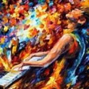 Music Fight Art Print