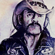 Music Icons - Lemmy Kilmister Iv Art Print
