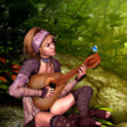 Music In The Woods Art Print