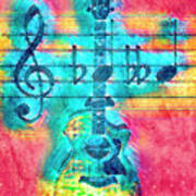 Music Is Everything In Colors Art Print