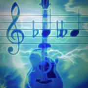 Music Is Everything Lightning Art Print