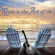 Music Is The Art Of The Soul Art Print