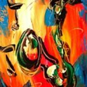 Music Jazz Saxophone Art Print