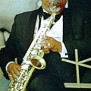 Music Man Saxophone 2 Art Print