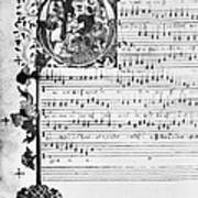 Music Manuscript, 1450 Art Print