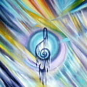 Music Reflexion Art Print
