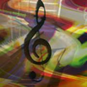 Musical Waves Art Print