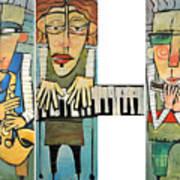 Musician Trio Art Print
