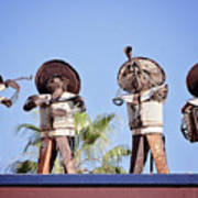Musicians At The Hotel California Todos Santos Mx Art Print