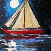 Musing-midnight Sail Print by John Williams
