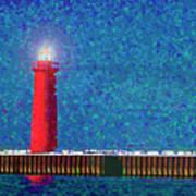 Muskegon Lighthouse Art Print