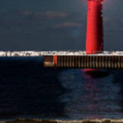 Muskegon Mi Lighthouse Art Print