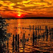Muskegon Sunset Art Print