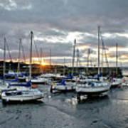Musselburgh Marina In The Sunset. Art Print