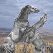 Mustang Battle Art Print