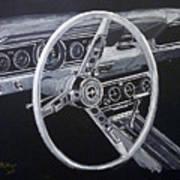 Mustang Dash Art Print