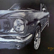 Mustang Front Art Print