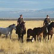 Mustang 'n' Cowboys Art Print