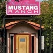 Mustang Ranch Entrance Art Print