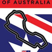 My 2017 Grand Prix Of Australia Minimal Poster Art Print
