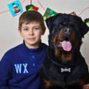 My Brother And The Dog Art Print