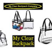 My Clear Backpack Art Print