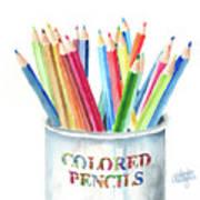 My Colored Pencils Art Print