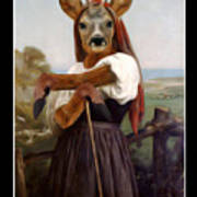 My Deer Shepherdess Art Print