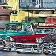 My Fathers' Cars Art Print