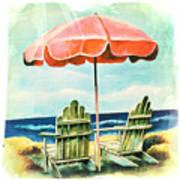 My Favorite Secret Beach Spot Art Print