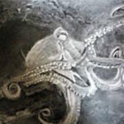 My Friend The Octopus Art Print