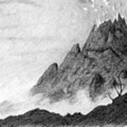My Friend Told Me I Should Draw A Volcano Art Print