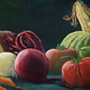 My Harvest Vegetables Art Print