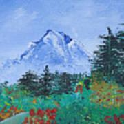 My Mountain Wonder Art Print by Jera Sky