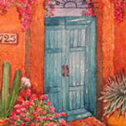 My Neighbors Blue Door  Art Print