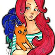 My Orange Cat Art Print