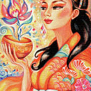 Kimono Flower Art Print