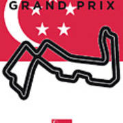 My Singapore Grand Prix Minimal Poster Art Print