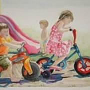 My Sisters Grandkids Print by Diane Ziemski