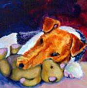 My Teddy - Wire Hair Fox Terrier Art Print by Lyn Cook