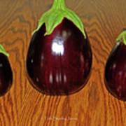 My Three Eggplant Fruits Art Print