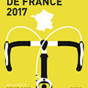 My Tour De France Minimal Poster 2017 Art Print